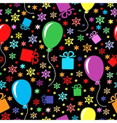 birthday multicolor pattern vector image