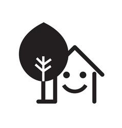 black house icon vector image