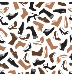 boots and shoes color seamless pattern eps10 vector image