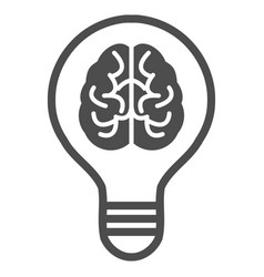 Brain idea bulb icon vector