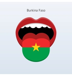 Burkina Faso language Abstract human tongue vector image