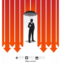 Businessman in Umbrella creative Finance safe idea vector