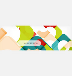 color square shapes geometric modern abstract vector image