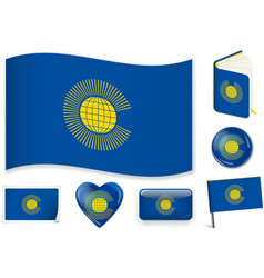 Commonwealth flag 3 layers vector