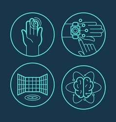 Concepts and icons in linear style vector