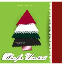 creative christmas tree made from pieces vector image