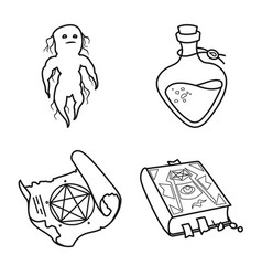 Design occult and magical sign set of vector