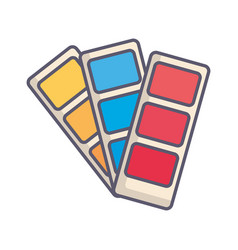 Designer colors card icon vector
