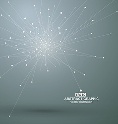 Dot and line consisting of abstract graphics vector image