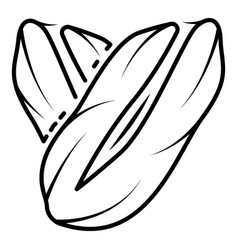 eco peanut icon outline style vector image