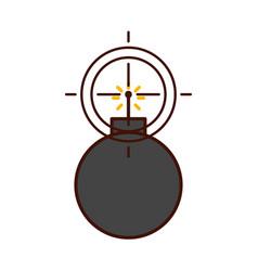 Explosive boom with target vector