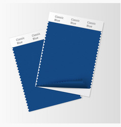 Fabric samples textile swatch template vector