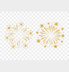 Firework gold isolated vector
