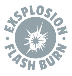 Flash explosion logo simple gray style vector
