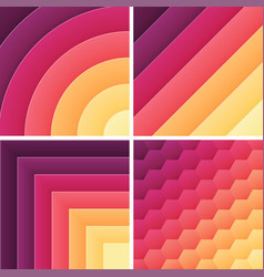 gradient trendy color background pack vector image