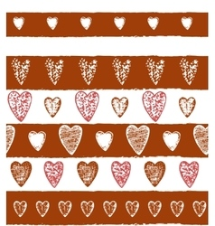 Graphic heart background vector