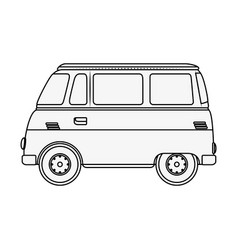 Hippie van icon vector