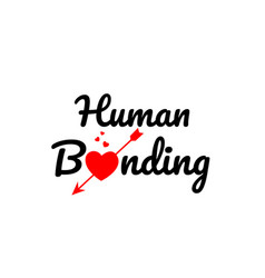 Human bonding word text typography design logo vector