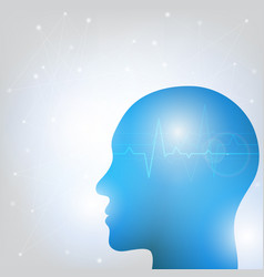 human head and brain vector image