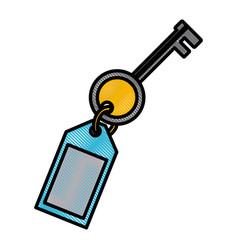 key door isolated vector image