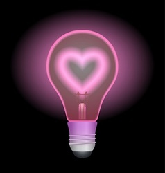 Love light bulb vector