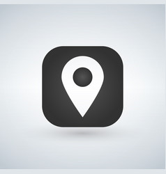 map pointer or gps location symbol over the vector image