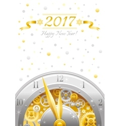 Merry Christmas and New year 2017 flyer Greeting vector
