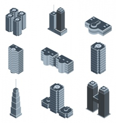 modern building vector image