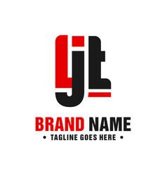 modern logo design letter ljt vector image