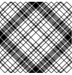 modern pixel black white seamless pattern plaid vector image