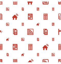 News icons pattern seamless white background vector