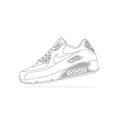 Nike air max 90 blanc sneakers vector