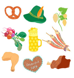 Oktoberfest objects clip art vector