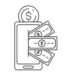 online payment concept vector image