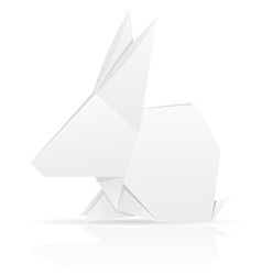Origami paper rabbit vector