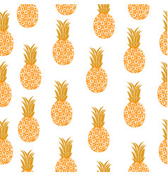 pineapple seamless texture pineapple background vector image