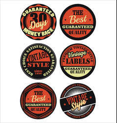 Premium quality retro badges collection black and vector