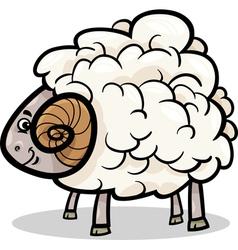 ram farm animal cartoon vector image