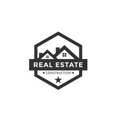 real estate logo icon element design template vector image