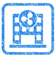 Ripple corporation building framed stamp vector