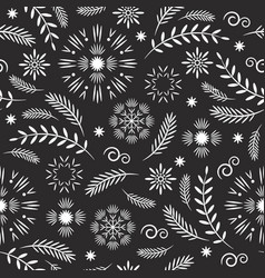 seamless pattern seasons greetings christmas pat vector image