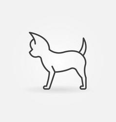 Small dog icon vector