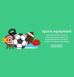 sport equipment banner horizontal concept vector image