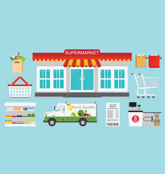 supermarket store concept vector image