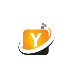 Technology motion synergy letter y vector