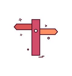 Traffic signs board icon design vector