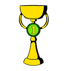 Trophy cup icon icon cartoon vector