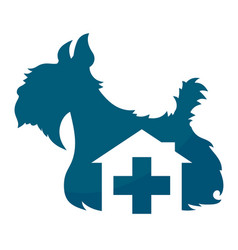 veterinary clinic dog symbol vector image