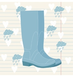 Wellington rain boots vector
