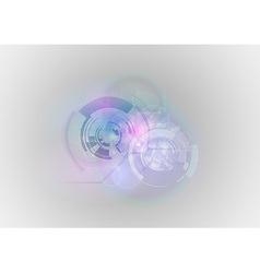abstract tech vector image vector image